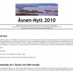 Åsnen Nytt 2010