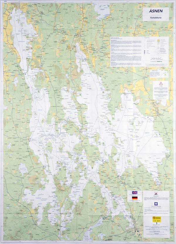 Farledskarta över Åsnen - huvudsida